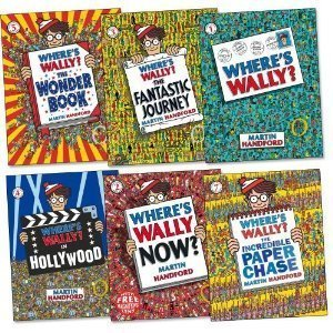 Where's Wally Books: 6 Large Picture Books Box Set (Where's Wally? / Where's Wally? In Hollywood / Where's Wally Now? The Great Picture Hunt / Where's Wally? The Fantastic Journey / Where's Wally? The Wonder Book)