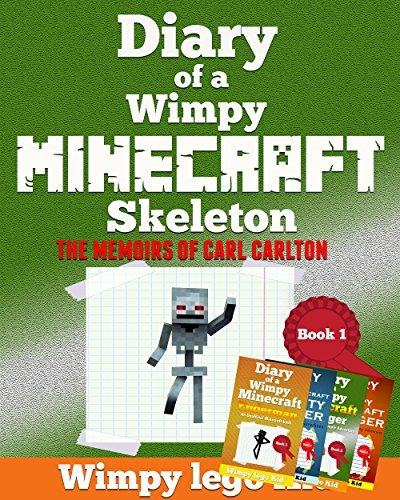 Minecraft Diary: Diary Of a Minecraft Skeleton (+ 4 FREE BONUS BOOKS INSIDE,an unofficial Minecraft book for kids,Zombie book 1.2.3.4.5.6)