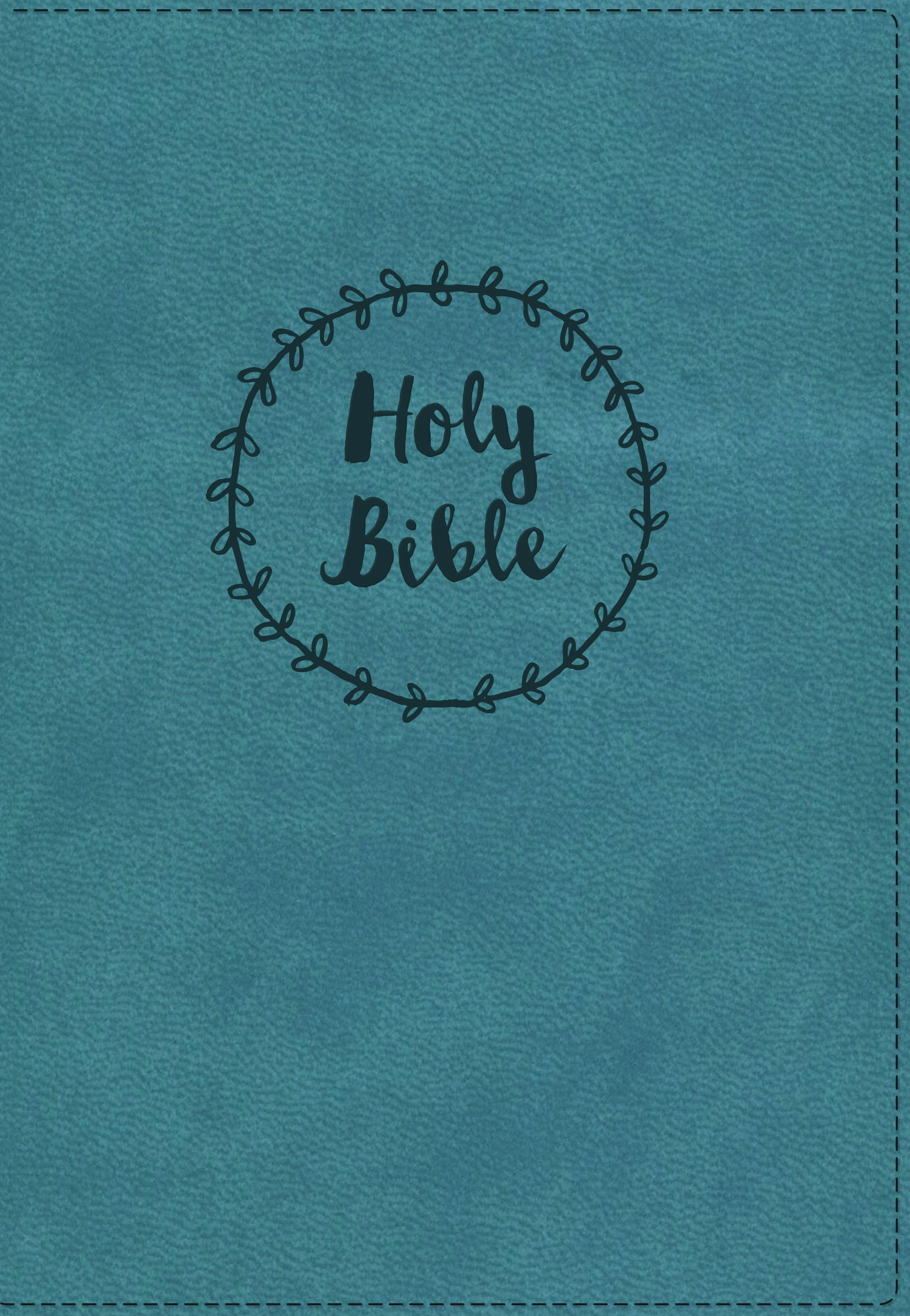 NKJV, Reference Bible, Compact, Large Print, Leathersoft, Blue, Red Letter Edition