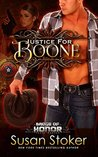 Justice for Boone by Susan Stoker