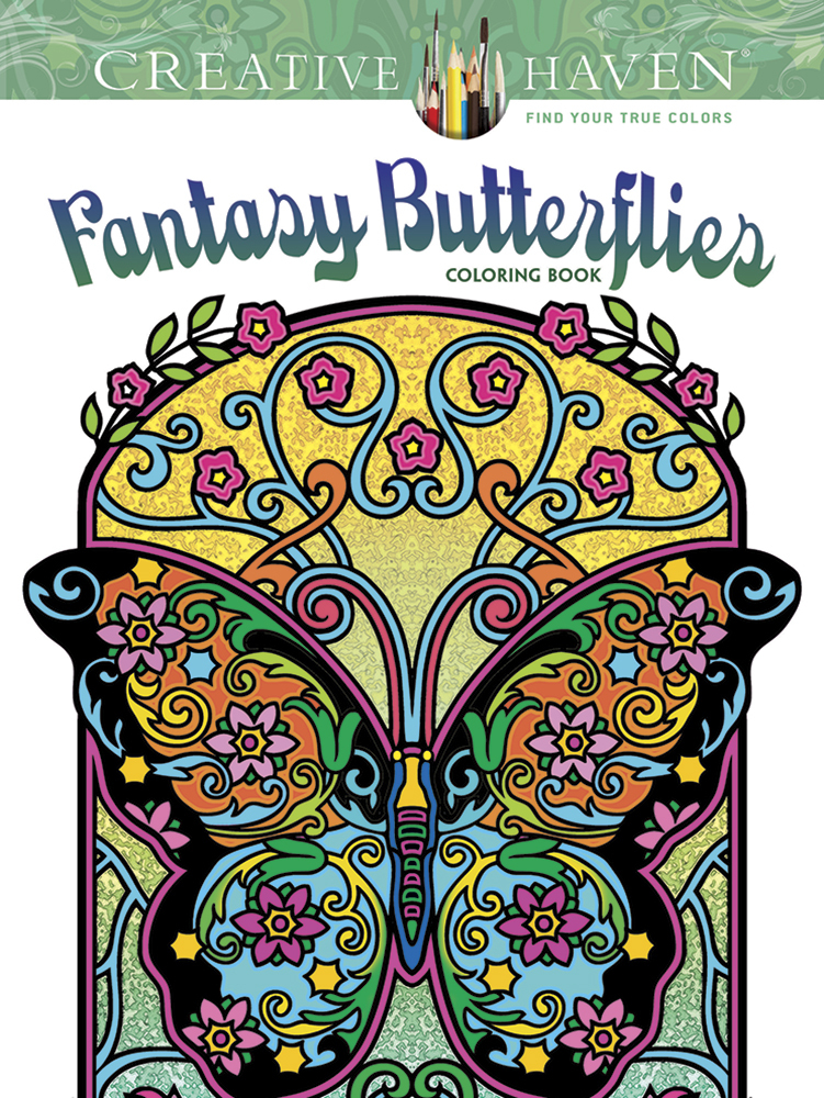 Creative Haven Fantasy Butterflies Coloring Book