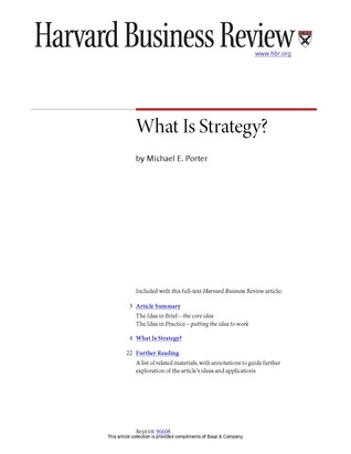 review the article what is strategy The role of brand within nonprofit organizations is therefore cyclical and can be captured in a model we call the role of brand cycle in this model, brand is nested within organizational strategy, which in turn is nested within the mission and values of the organization.