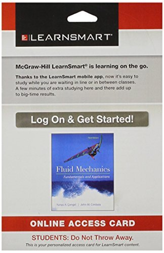 Learnsmart Standalone Access Card for Fluid Mechanics Fundamentals and Applications