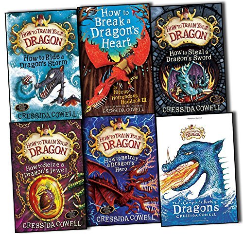 How to Train Your Dragon 6 Books Collection Pack Set Book 7 to12 (How to Ride a Dragon's Storm, How to Break a Dragon's Heart, How to Steal a Dragon's Sword, How to Seize a Dragon's Jewel, How to Betray a Dragon's Hero, The Incomplete Book of Dagons)