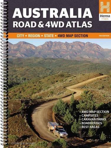 Australia Road & 4WD atlas spir. GPS hema