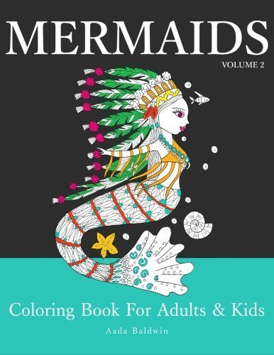 Mermaids: Coloring Book for Adults & Kids, Volume 2