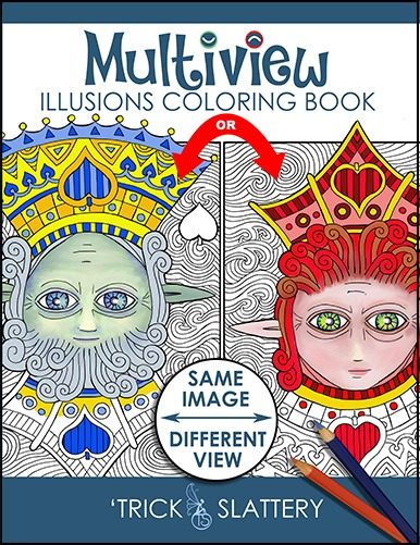 Multiview Illusions Coloring Book: Ambiguous Optical Illusion Adult Coloring Book