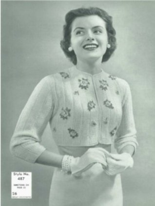 #2577 EDNA VINTAGE KNITTING PATTERN