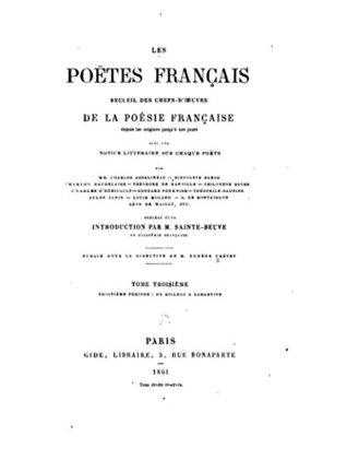 Les Poëtes français: Recueil des chefs-d'œuvre de la poésie française depuis les origines jusqu'à nos jours