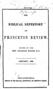 'Relation of the Church and State', Biblical Repertory and Princeton Review, 35, no. 4 (October 1863)