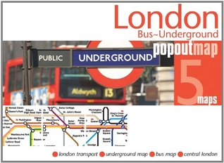 London Bus and Underground PopOut Map: pocket size popup map of London tube and bus routes