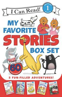 I Can Read My Favorite Stories Box Set: Happy Birthday, Danny and the Dinosaur!; Clark the Shark: Tooth Trouble; Harry and the Lady Next Door; The Berenstain Bears: Down on the Farm; Splat the Cat Makes Dad Glad