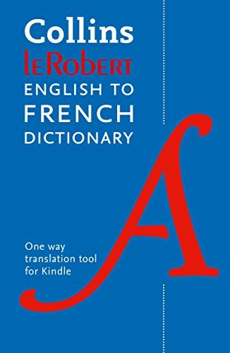 Collins Robert English to French Dictionary