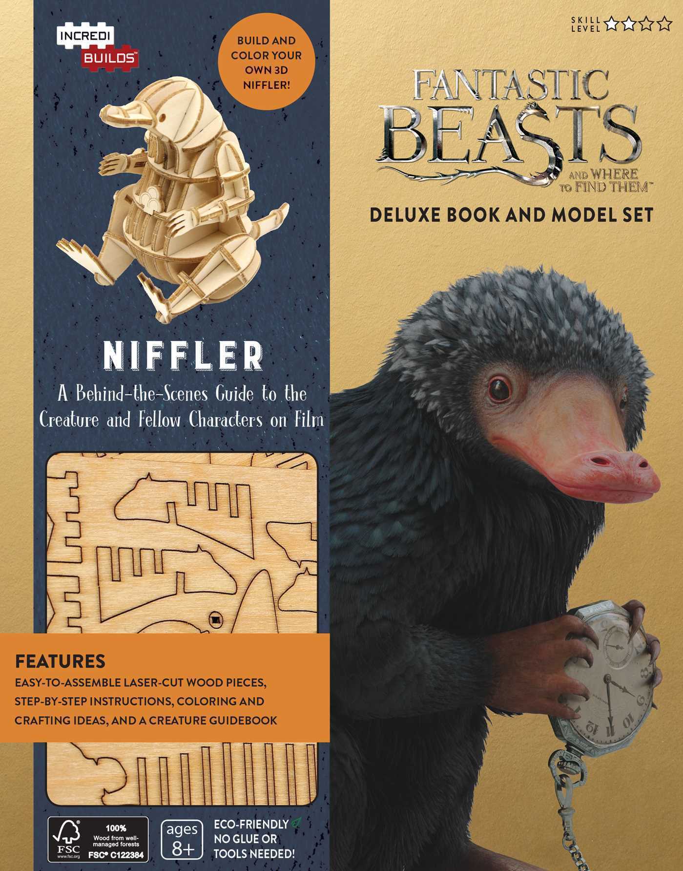 IncrediBuilds: Fantastic Beasts and Where to Find Them: Niffler Deluxe Book and Model Set