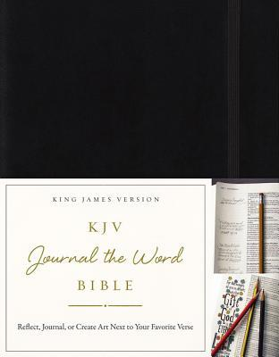 KJV, Journal the Word Bible, Hardcover, Black, Red Letter Edition: Reflect, Journal, or Create Art Next to Your Favorite Verses