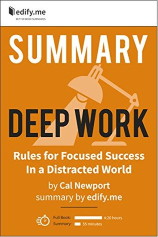 Summary of Deep Work, by Cal Newport. 2 Summaries in 1: In-depth, chapter-by-chapter summary and 2-page summary.