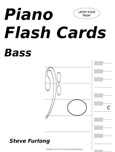 Piano Flash Cards: Bass Notes for Letter Paper