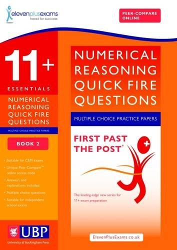 11+ Essentials Numerical Reasoning for CEM: Quick-Fire Questions Multiple Choice Book 2