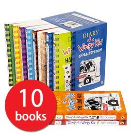 Diary of a Wimpy Kid 10 Book Slipcase Box set