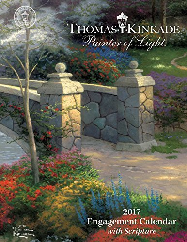 Thomas Kinkade Painter of Light with Scripture 2017 Engagement Calendar