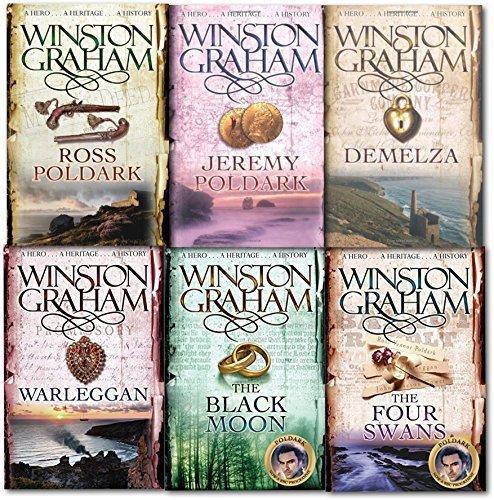 Winston Graham Poldark Volume 1 to 6 Books Collection Set A Novel of Cornwall