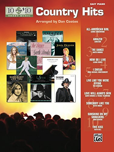 10 for 10 Sheet Music: Country Hits for Easy Piano