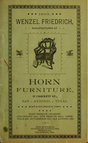 Wenzel Friedrich, Manufacturer of Horn Furniture