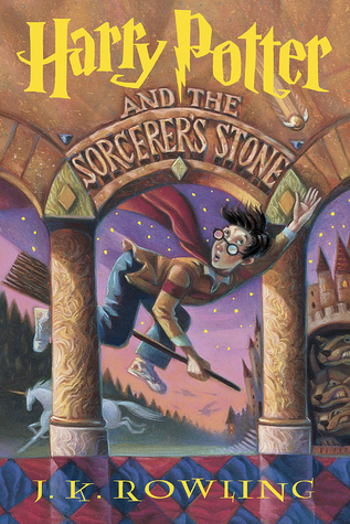 "Book cover of ""Harry Potter and the Sorcerer's Stone' by J.K. Rowling"