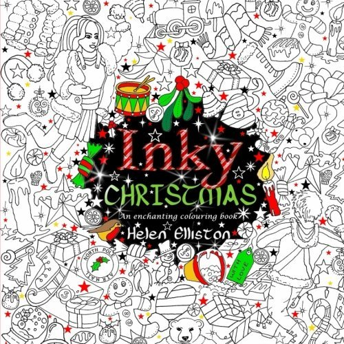 Inky Christmas: An enchanting, festive adult colouring book