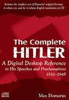Book cover for The Complete Hitler: Speeches and Proclamations, 1932-1945: The Chronicle of a Dictatorship, Volumes 1 - 4