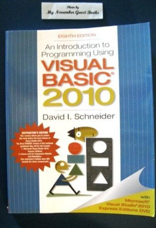 an introduction to programming using visual An introduction to programming using visual basic 2005 has 5 ratings and 0 reviews based on the 2005 version of microsoft's vbnet, this textbook is des an introduction to programming using visual basic 2005 has 5 ratings and 0 reviews.