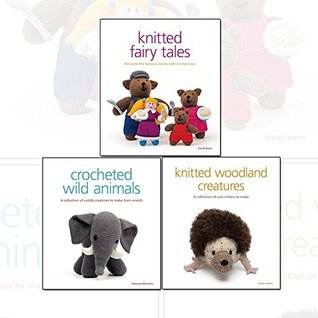 Crocheted and Knitted Fairy Tales Animal Collection 3 Books Set,