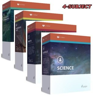 New Lifepac Grade 8 AOP 4-Subject Box Set (Math, Language, Science & History / Geography, Alpha Omega, 8TH GRADE, HomeSchooling CURRICULUM, New Life Pac [Paperback]