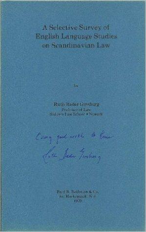 A Selective Survey of English Language Studies on Scandinavian Law