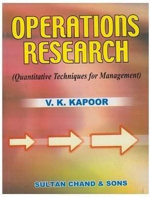 Operations Research: Quantitative Techniques for Management