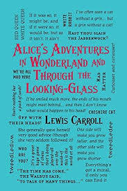 Alice's Adventures in Wonderland and Through the Looking Glass (Word Cloud Classics) (Alice In Wonderland, #1-#2)