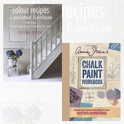 Annie Sloan Collection 2 Books Bundle (Annie Sloan's Chalk Paint® Workbook - A practical guide to mixing paint and making style choices [Spiral-bound], Colour Recipes for Painted Furniture and More)