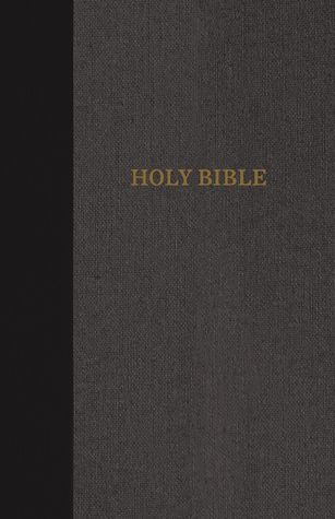KJV, Thinline Bible, Large Print, Cloth over Board, Black/Gray, Red Letter Edition
