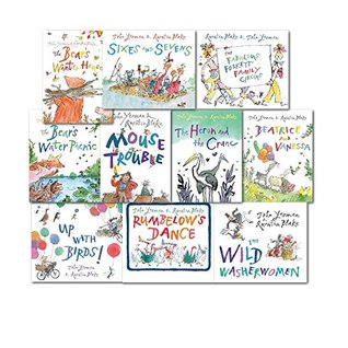 Quentin Blake Collection 10 Children Gift Set Pack, (The Bear's Water Picnic Rumberlow's Dance, The Fabulous Foskett Family Circus, The Wild Washerwomen, The Heron and the Crane, The Bear's Winter House, Sixes and Sevens, Mouse Trouble, Up with Bird
