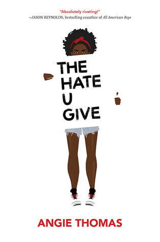 Book cover: A white background highlights the figure of a black girl with natural hair and jean shorts; her torso and the bottom of her face obscured by a protest style sign bearing the book title