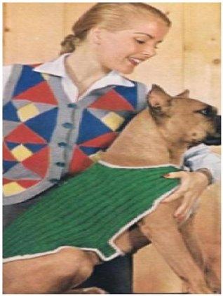 #0735 DOGGIE DOG VINTAGE CROCHET PATTERN
