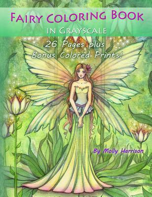 Fairy Coloring Book in Grayscale: By Molly Harrison
