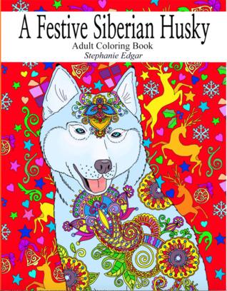 A Festive Siberian Husky by Stephanie Edgar