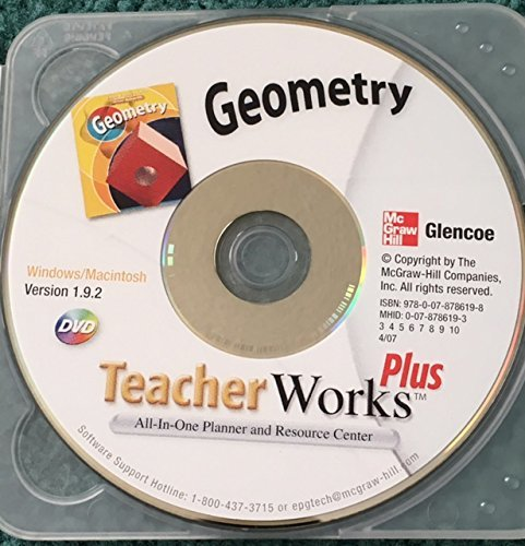 Glencoe McGraw-Hill Geometry TeacherWorks Plus Teacher Works DVD (All-In-One Planner and Resource Center) Windows/Macintosh Version 1.9.2