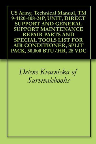 US Army, Technical Manual, TM 9-4120-408-24P, UNIT, DIRECT SUPPORT AND GENERAL SUPPORT MAINTENANCE REPAIR PARTS AND SPECIAL TOOLS LIST FOR AIR CONDITIONER, SPLIT PACK, 30,000 BTU/HR, 28 VDC