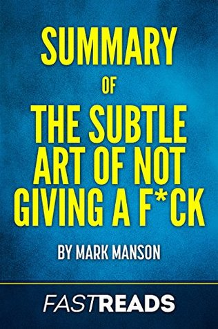 mark manson the subtle art of not giving a f