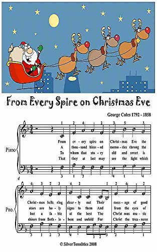 From Every Spire On Christmas Eve Easy Piano Sheet Music Junior Edition