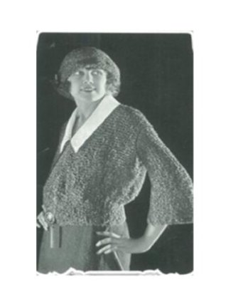 #2416 KNITTED LOOP JACKET AND CAP VINTAGE KNITTING PATTERN
