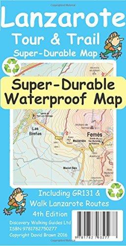 Lanzarote Tour & Trail Super-Durable Map