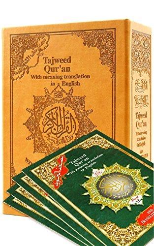 Tajweed Quran with English Transliteration & Transliteration in 30 Parts
